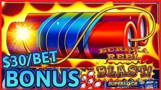 HIGH LIMIT SUPERLOCK Lock It Link Eureka Reel Blast ⋆ Slots ⋆$30 Max Bet Bonus Slot Machine Casino
