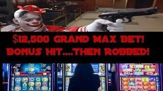 •$12,500 Grand Max Bet Bonus Hit, Then ROBBED! Video Slot Machine NO Jackpot Handpay Aristocrat • Si