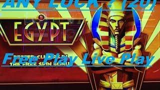 •ANY LUCK ? Free Play Slot Live Play (20)•Winning Streak EGYPT Slot machine (WMS) •$2.50 Bet