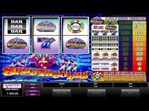 Free Spectacular slot machine by Microgaming gameplay ★ SlotsUp