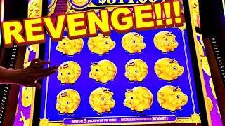 I WENT BACK FOR REVENGE ON THE NEW RAKIN BACON DELUXE!!! - New Las Vegas Casino Slot Machine Bonus