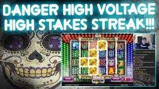 HIGH Stakes STREAK on Danger High Voltage!!!