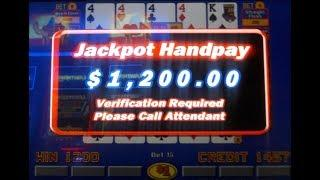 All-Star Poker Triple Play~Four 4's on 1st Draw~NO Kicker~$1,200.00 Jackpot