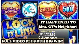 *GRAND JACKPOT HANDPAY*  Lock it Link Slot Machine - Sharing Lucky Karma!