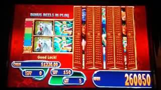 JACKPOT HANDPAY!  Mystical Dragons 20 FREE SPINS $7.50 MAX BET High Limit Slot Machine Part 2