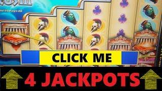 MUST SEE! 4 JACKPOT HAND PAYS on Wild Shootout + Zeus III - High Limit Slot Machines!