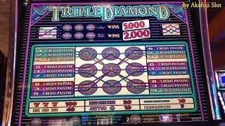 TRIPLE DIAMOND 9 Lines Max Bet $9 - Pay Back [アカフジ] [赤富士] [カルフォルニア] [カジノ] [スロット]
