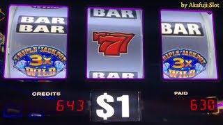 JACKPOT•Barona Casino Part 3/3 •Piggy Bankin, Triple GEMS, SHAMROCK $1 Slot, BLAZING 7 $2 Slot