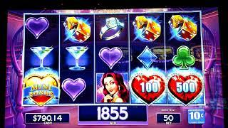 Free spins and live play on Lock it link, diamonds.