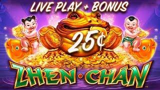 25¢ ZHEN CHAN SLOT *NEW* LIVE PLAY + SLOT BONUS - Slot Machine Bonus