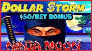 ★ Slots ★️HIGH LIMIT Dollar Storm Ninja Moon ★ Slots ★️$50 SPIN BONUS ROUND Slot Machine Casino ★ Sl