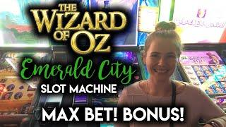 Wizard of Oz Emerald City Slot Machine! Max Bet BONUSES!