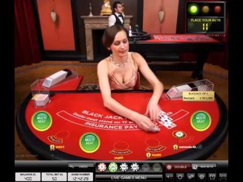 Evolution Live Blackjack VIP Red Table £50 Bets