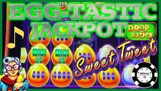 •NEW SLOT Drop & Lock Sweet Tweet •HIGH LIMIT JACKPOT HANDPAY $25 SPIN BONUS ROUND LOCK IT LINK •
