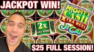 ⋆ Slots ⋆HIGH LIMIT Mighty Cash XTRA Reel $25 BET FULL SESSION & JACKPOT HANDPAY!! ⋆ Slots ⋆