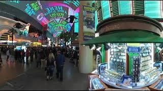Fremont Street Experience on a Friday Night!  VR360 (4k)