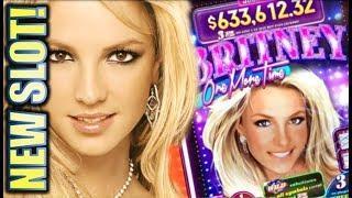 "•NEW BRITNEY SLOT! ""CRAZY"" SURPRISE WIN!• BRITNEY ONE MORE TIME  3-REEL Slot Machine Bonus"