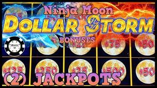 •️HIGH LIMIT Dollar Storm Ninja Moon (2) HANDPAY JACKPOTS $25 SPINS •️(4) BONUS ROUNDS Slot Machine
