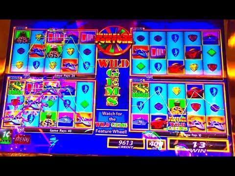 "(SERIOUSLY?!?!) WHEEL OF FORTUNE ""WILD GEMS"" (MAX BET) Slot Machine Bonus"