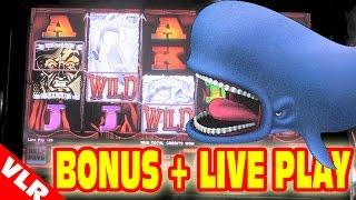 Moby Dick - NEW SLOT MACHINE Bonus + Live Play - Monday Giveaway!