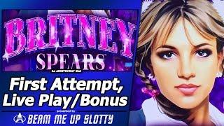 Britney Spears Slot - First Attempt, Live Play with Bonus and Random Features