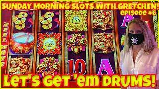 ★ Slots ★DANCING DRUMS EXPLOSION Slot Machine Casino ★ Slots ★SUNDAY MORNING SLOTS WITH GRETCHEN EPI