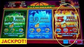 *JACKPOT HANDPAY* Golden Pumpkin Slot Machine Live Play Bonus!