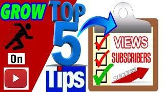 GET MORE VIEWS AND SUBSCRIBERS ON YOUTUBE•5 EASY TIPS• GROW YOUR CHANNEL•WATCH THIS ENTIRE VIDEO!