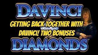 HIGH LIMIT DAVINCI DIAMONDS SLOT MACHINE BONUSES