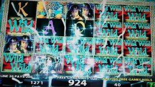 Midnight Eclipse Slot Machine Bonus - 6 Free Games with Increasing Locked Wilds - Nice Win