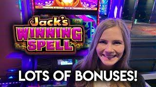 Jacks Winning Spell! Lots of Bonuses And Features!