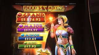 GODDESS RISING ~ Fun Session w/2 Different Bonuses ~ Live Slot Play @ San Manuel