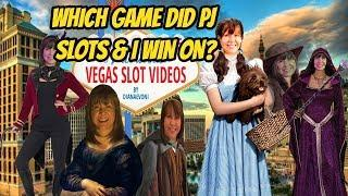 WHICH GAME DID PJ SLOTS AND I WIN ON?
