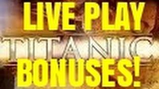 TITANIC SLOT MACHINE BONUSES-LIVE PLAY