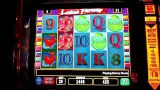 Lotus Flower Slot Machine Bonus Round (IGT)