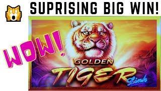 A BIG SURPRISE HAPPENED DURING the BONUS on GOLDEN TIGER LINK SLOT MACHINE for a BIG WIN BONUS!