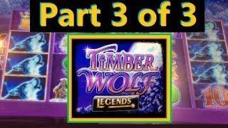★ THE FINALE - BIG WIN!! Timber Wolf Legends Slot Machine Bonus! ~ Aristocrat (TimberWolf Part 3/3)