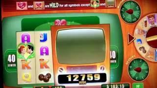 BIG WINS!!!!  I LOVE LUCY SLOT FEATURES AND BONUSES!!