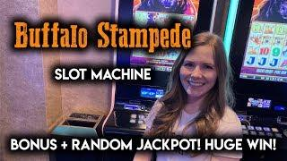 Extremely Rare Random JACKPOT on Buffalo Stampede!! MASSIVE WIN!!
