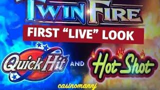 Twin Fire (QuickHit&HotShot) - CHASING 1 MIL! - MAX BET! - NICE WINS-Slot Machine Bonus