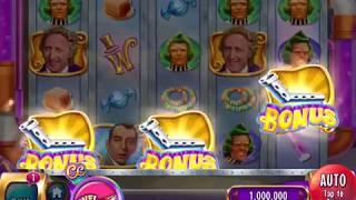 "WILLY WONKA: BLUEBERRY FOR A DAUGHTER Video Slot Casino Game with a ""BIG WIN"" WHEEL BONUS"