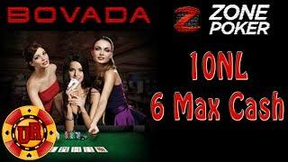 10NL Bovada Poker - Zone Poker EP 8 - Texas Holdem Poker Strategy - Cash Game