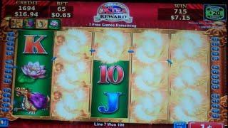 Myth of Gold Slot Machine Bonus + Retriggers - 20 Free Games Win with Wild Symbols