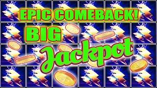 EPIC COMEBACK I WAS DOWN TO MY LAST SPIN! BIG JACKPOT THUNDER CASH HIGH LIMIT SLOTS