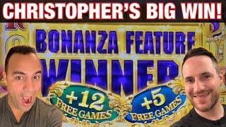 ⋆ Slots ⋆ Christopher DOMINATES Gold Bonanza Slot Machine!! | ⋆ Slots ⋆ 8 PETALS Cosmo Las Vegas!