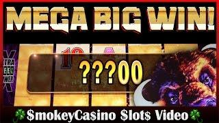 $$ BUFFALO Deluxe Slot Machine MEGA BIG LINE HIT WIN! -  Aristocrat $$