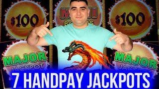 7 HANDPAY JACKPOTS On 1 DRAGON LINK Slot - $50 MAX BETS | Huge High Limit Slot Play At Casino