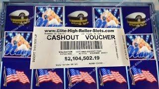 •$2.1 Million Cashout! American Beauties Navy $100 Slot! Jackpot, Handpay Aristocrat, IGT | SiX Slot