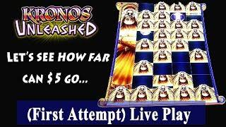 New Slot !! (First Attempt) SG Kronos Unleashed Live Play and Bonuses at Barona Casino