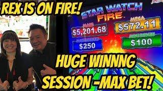 HUGE WINNING SESSION-KONAMI'S STAR WATCH FIRE-MAX BET